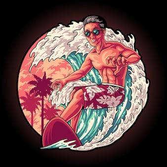 Surfzeit im sommer