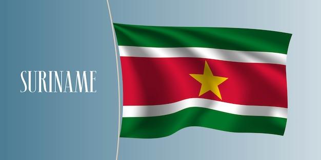 Suriname winkende flaggenillustration