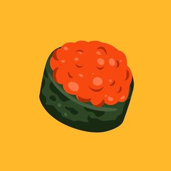 Sushi-illustration flach minimalistisch