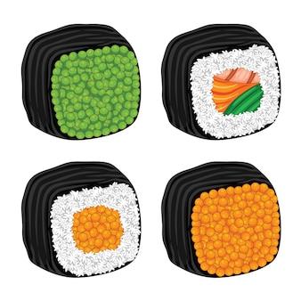 Sushi japan food flat