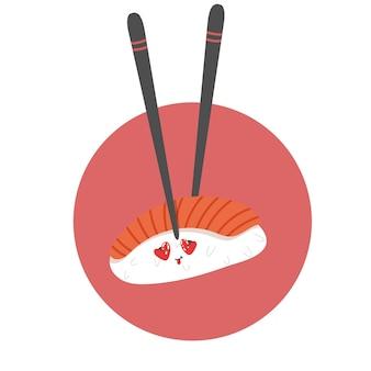 Sushi mit liebevollen augen