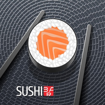 Sushi-schablonenillustration