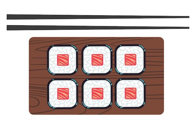 Sushi und stäbchen vector illustration