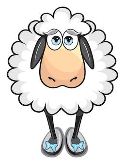 Süße weiße Schafe