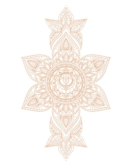 Svadhisthana sakral yoga chakra mandala. illustration