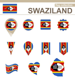 Swasiland flag collection, 12 versionen