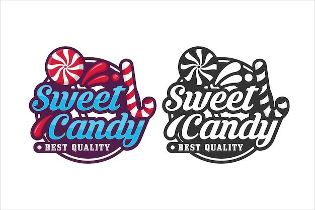 Sweet candy design logo premium