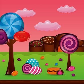 Sweet candy hintergrund