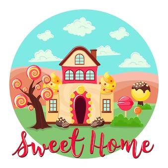 Sweet home runde zusammensetzung