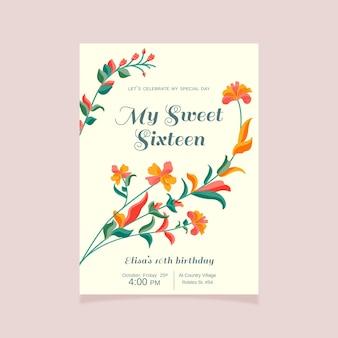 Sweet sechzehn geburtstagseinladung