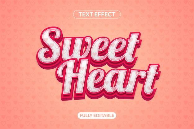 Sweetheart textstil effekt aussehenseffekt schriftart
