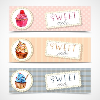 Sweetshop-kuchen-banner-set