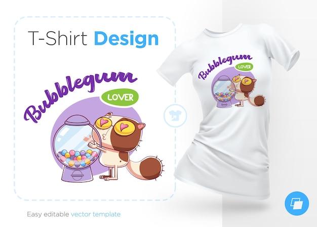 Sweettooth katze print auf t-shirts sweatshirthüllen für handys souvenirs