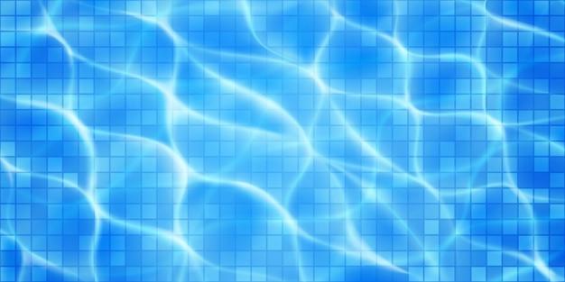 Swimmingpoolbeschaffenheitshintergrund mit mosaikfliesen