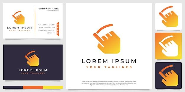 Swipe concept logo vector ein minimalistisches logo mit einem modernen farbschema