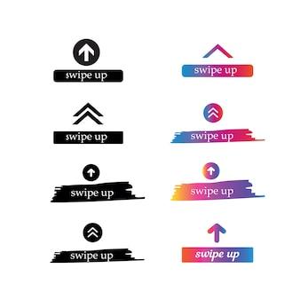 Swipe set stories vektor stories swipe button vektor illustratio