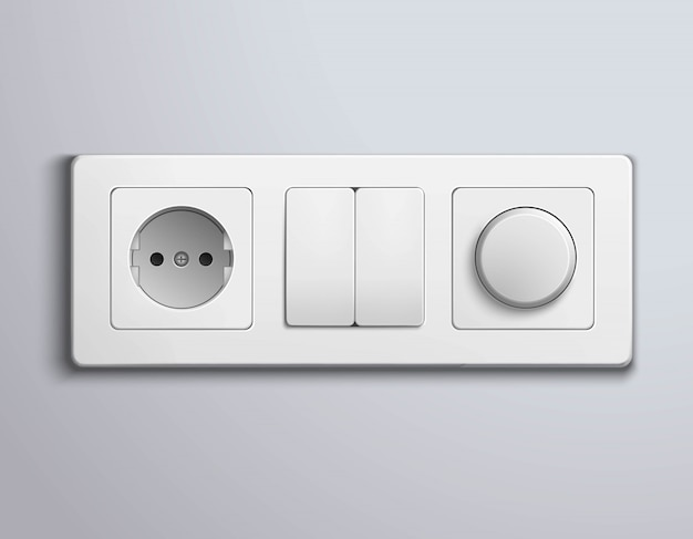 Switches sockets realistic panel
