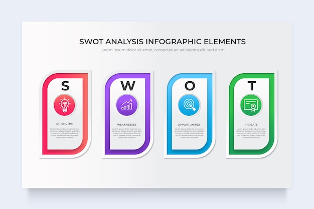 Swot-analyse business infografik-diagramm