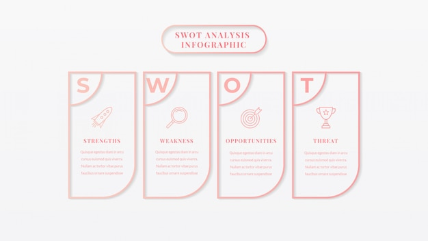 Swot-analyse business infographik vorlage