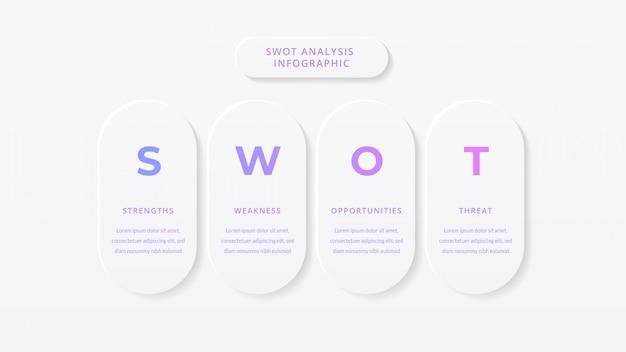 Swot-analyse business infographik vorlage