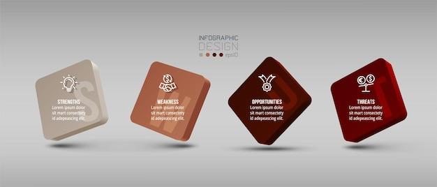 Swot-analyse-geschäfts- oder marketing-infografik-vorlage
