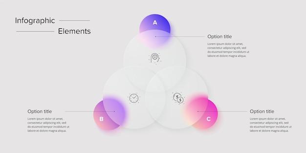Swot-analyse-infografik kreisförmige grafische elemente der strategischen unternehmensplanung firmenpräsentationsfolienvorlage