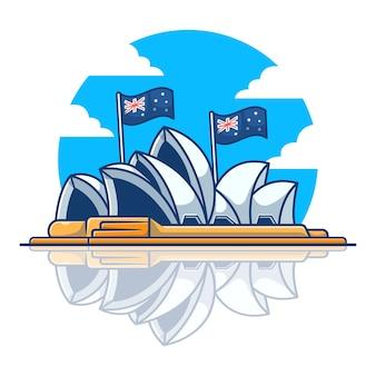 Sydney opera house illustration.