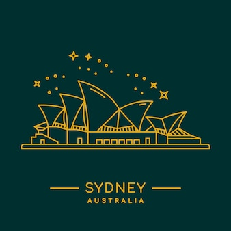 Sydney opera house-vektor-illustration.
