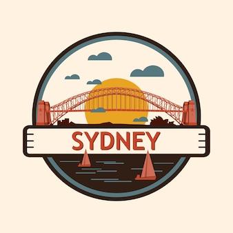 Sydney stadt abzeichen, australien