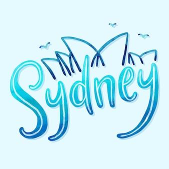 Sydney stadt schriftzug