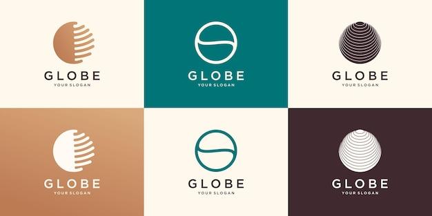 Symbol abstrakte globus-logo-icon-design.