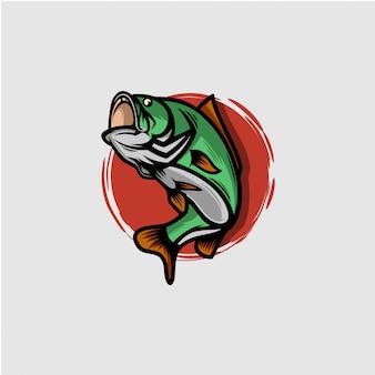 Symbol bass fisch