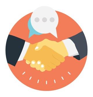 Symbol der zusammenarbeit, freundschaft und partnerschaft