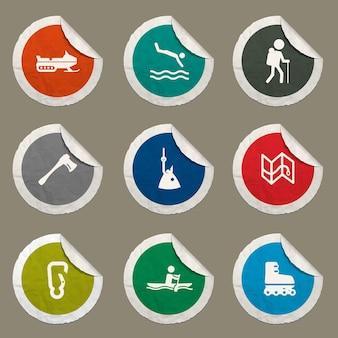 Symbol für aktive erholung für websites und benutzeroberfläche
