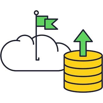 Symbol für den datenspeicherdienst des cloud-computing-servers