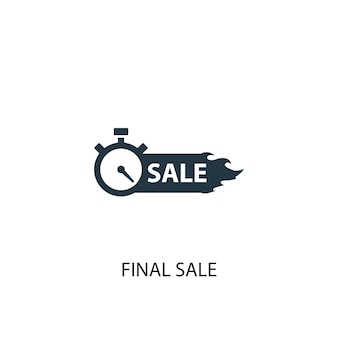 Symbol für den endgültigen verkauf. einfache elementabbildung. endgültiges verkaufskonzept symboldesign. kann für web und mobile verwendet werden.