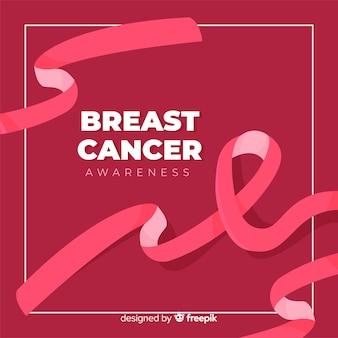Symbol für den kampf gegen brustkrebs flaches design