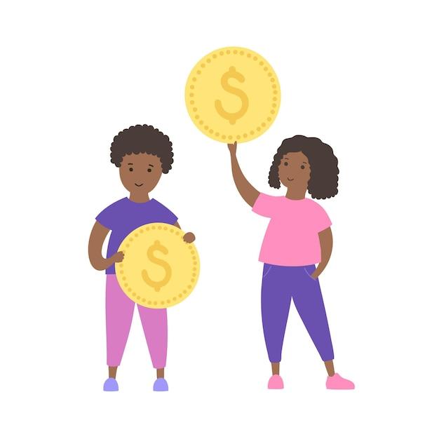Symbol für die bildung von kindern. investition, budgetplanungsbank und münzsymbol.