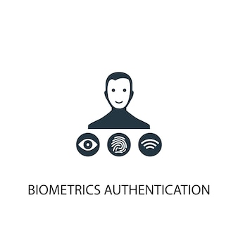 Symbol für die biometrische authentifizierung. einfache elementabbildung. symboldesign für das biometrische authentifizierungskonzept. kann für web und mobile verwendet werden.