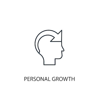 Symbol für die leitung des persönlichen wachstumskonzepts. einfache elementabbildung. persönliches wachstumskonzept skizzieren symboldesign. kann für web- und mobile ui/ux verwendet werden