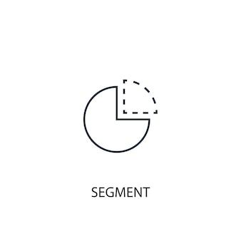 Symbol für die linie des segmentkonzepts. einfache elementabbildung. segmentkonzept gliederung symboldesign. kann für web- und mobile ui/ux verwendet werden