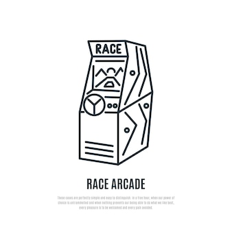Symbol für die renn-arcade-spiellinie