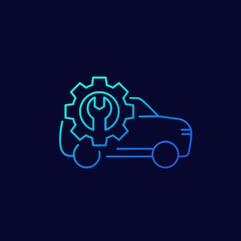 Symbol für die vektorlinie der autowerkstatt