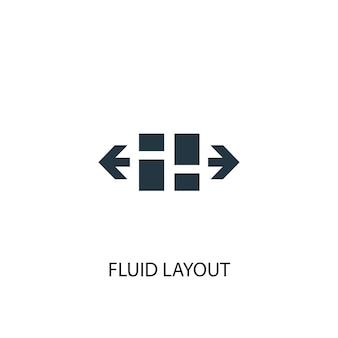 Symbol für flüssiges layout. einfache elementabbildung. flüssiges layout-konzept-symbol-design. kann für web und mobile verwendet werden.