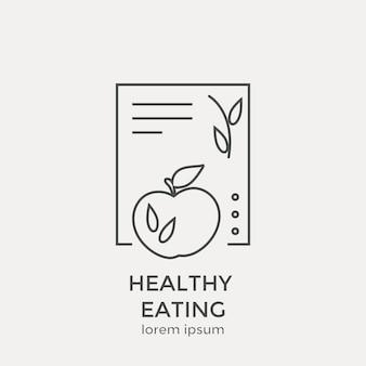Symbol für gesunde ernährung. moderne dünne linie icons set. flache design-webgrafik-elemente.