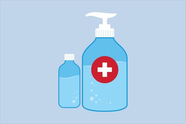 Symbol für händedesinfektionsmittel. händedesinfektionsmittel isoliert auf weißem hintergrund. vektorillustration im flachen stil