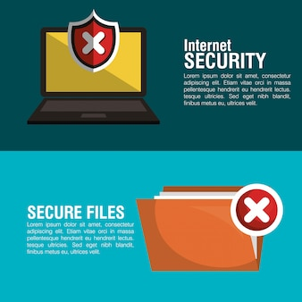 Symbol für internet-sicherheitsinformationen
