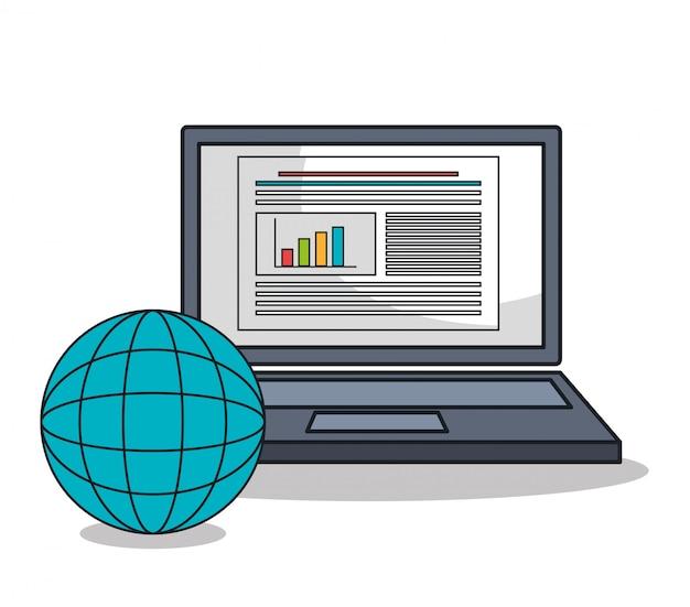 Symbol für laptop-computer-einstellungen