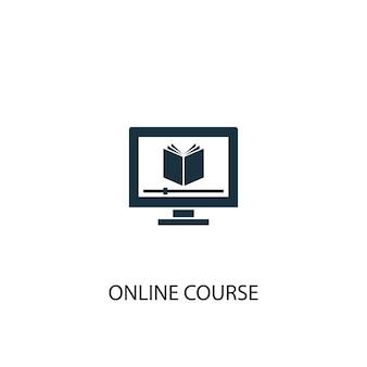 Symbol für online-kurse. einfache elementabbildung. online-kurskonzept symboldesign. kann für web und mobile verwendet werden.