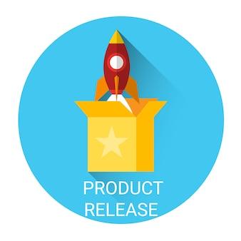 Symbol für produkt-release-geschäftspartnerschaft